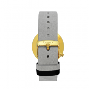 bracelets straps-leather watch strap-interchangeable-easy removes-gray color-gold buckle