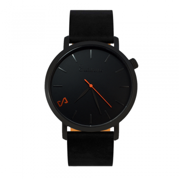 BLACK STORM -Leather Watch- Black