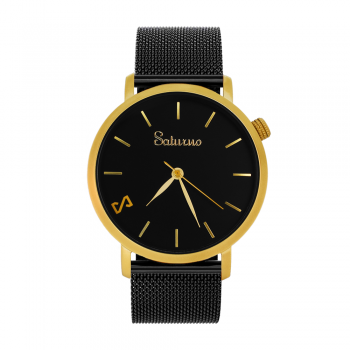 BLACK Sand -Steel Watch- Gold.