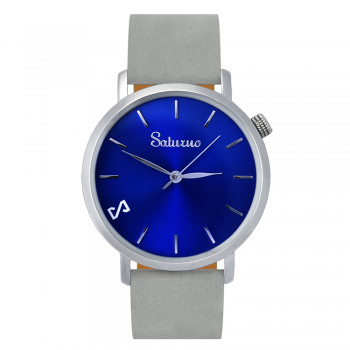GREY SEA -Leather Watch- Blue