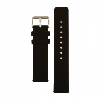 bracelets straps-leather watch strap-interchangeable-easy removes-black color-steel buckle