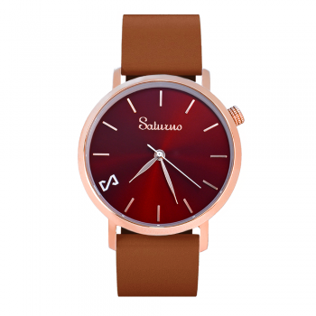RED STAR -Leather Watch- Rose Gold