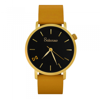 SAND -Leather Watch- Matt Gold
