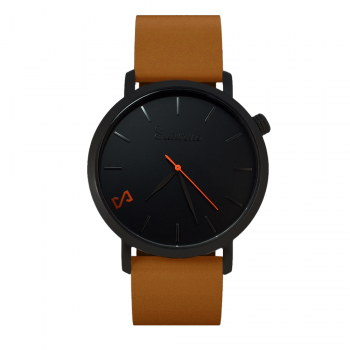 STORM -Leather Watch- Black