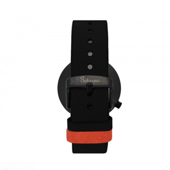 bracelets straps-leather watch strap-interchangeable-easy removes-black color-black steel buckle