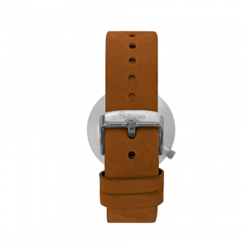 bracelets straps-leather watch strap-interchangeable-easy removes-brown color-steel buckle