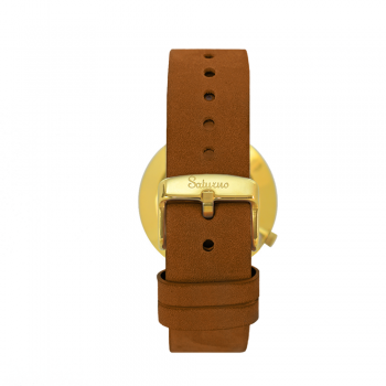 trasera SNOW -Leather Watch- Gold