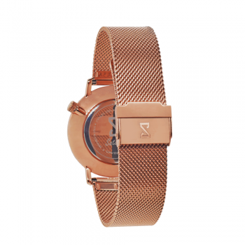 Men's and Women's Watches- Rose Gold Stainless Steel-Round Swiss Quartz-Interchangeable Strap-Bracelet-FashioN watches