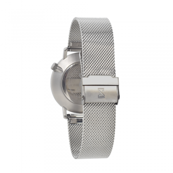 Men's and Women's Watches- Gray Stainless Steel-Round Swiss Quartz-Interchangeable Steel Strap-Bracelets Watches
